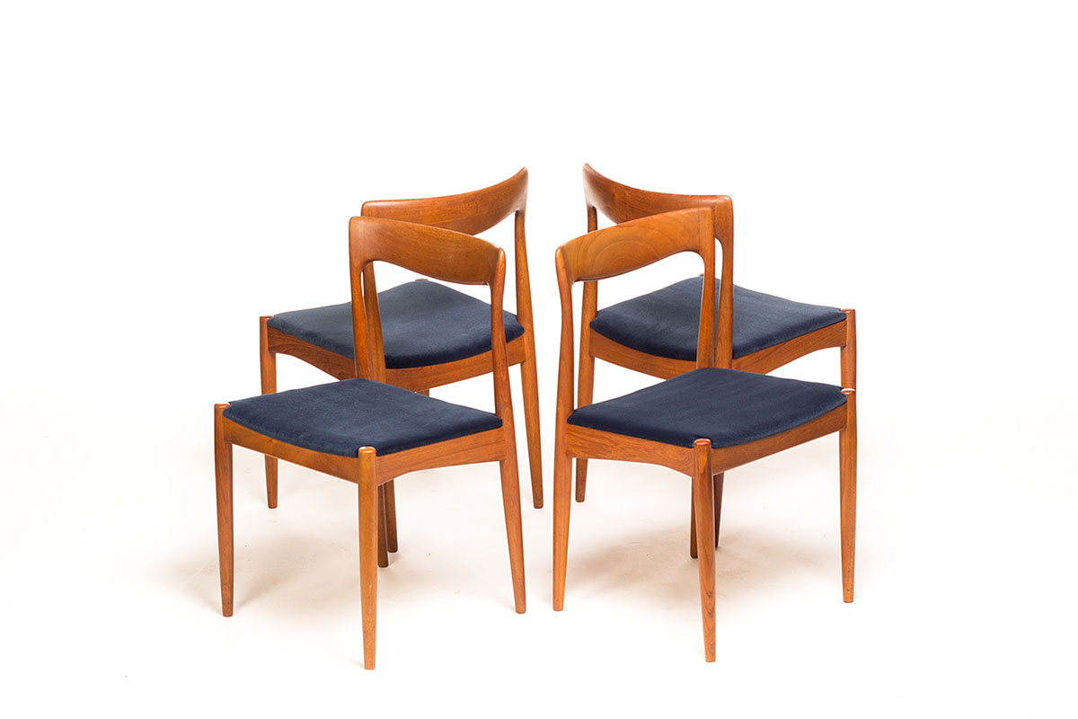 vintage danish dining chairs produced by vamo s nderborg