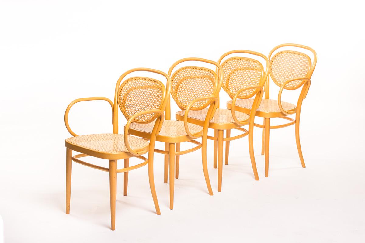 Vintage Rotterdam Meubels : Vintage thonet model 215 rf chairs set of 4 sold vintage