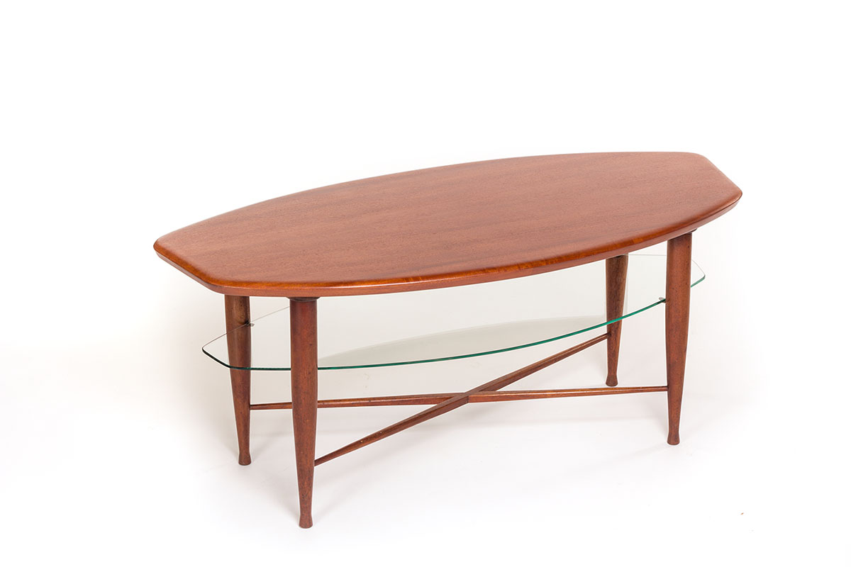 Vintage Tv Meubel Andersen.Lovely Vintage Teak Coffee Table With Glass Magazine Shelf