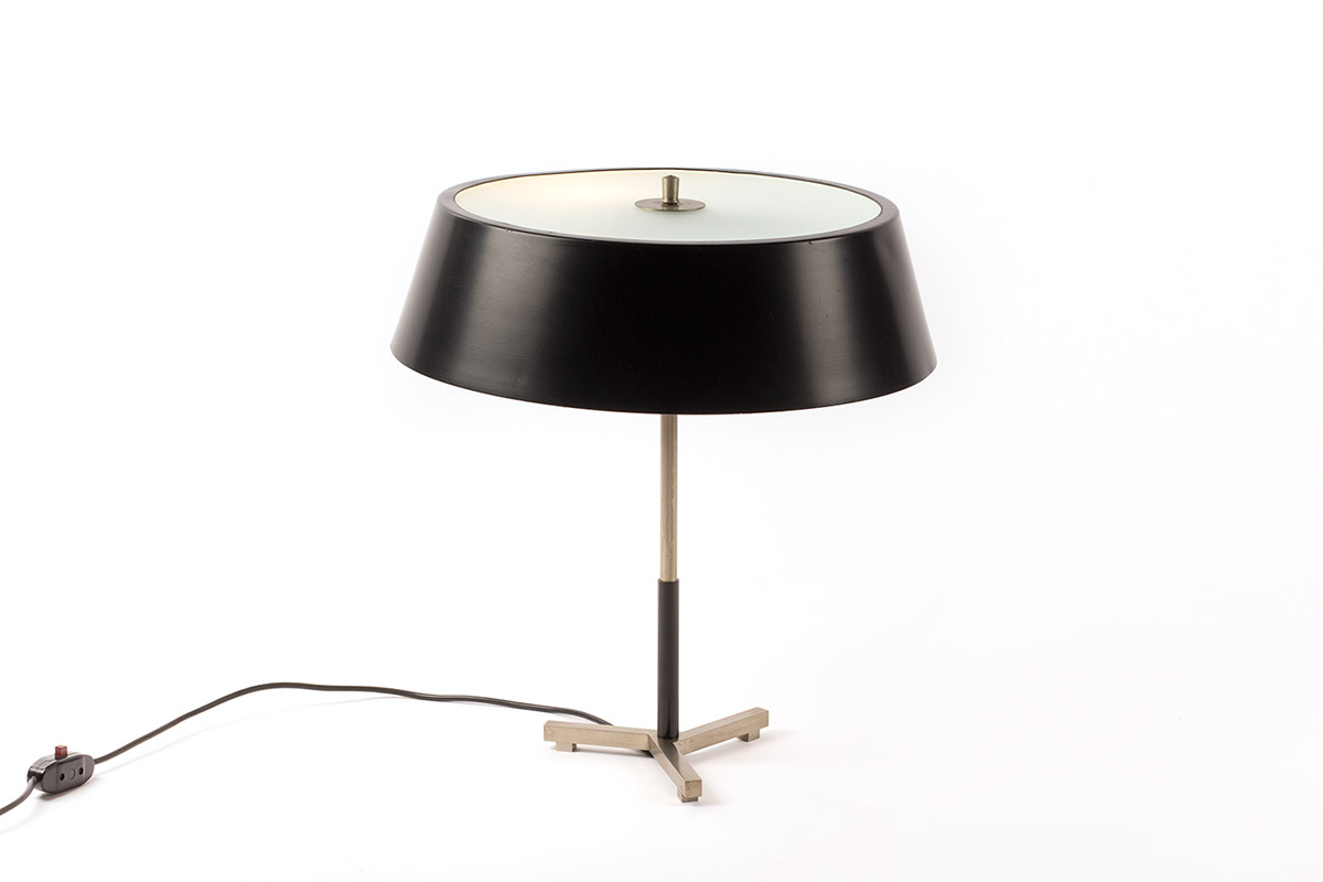 Vintage Rotterdam Meubels : Very rare table lamp produced by artiforte vintage furniture base